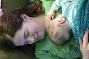 Loralyn & Mom nap